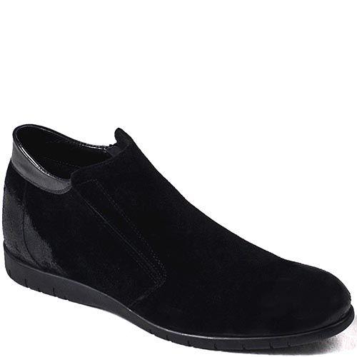 Зимние мужские ботинки Modus Vivendi из замши черного цвета со вставками из гладкой кожи, фото