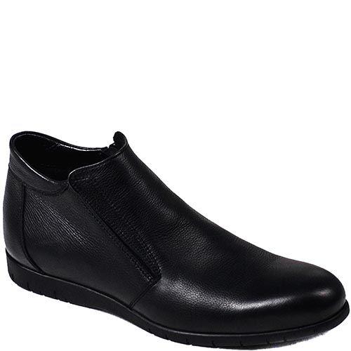 Мужские зимние ботинки Modus Vivendi из гладкой кожи черного цвета, фото