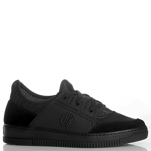 Черные кеды Roberto Cavalli на шнуровке, фото