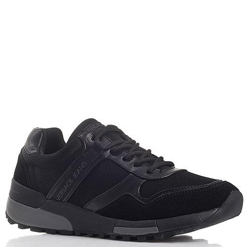 4bbb0c4d6d25 ☆ Мужские черные кроссовки Versace Jeans 540-YQBSD177222-899 купить ...