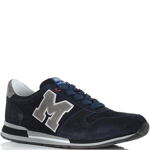 Замшевые кроссовки Moschino темно-синего цвета, фото
