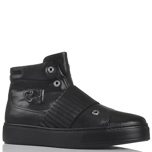 Зимние ботинки из черной кожи Giampiero Nicola на толстой подошве, фото