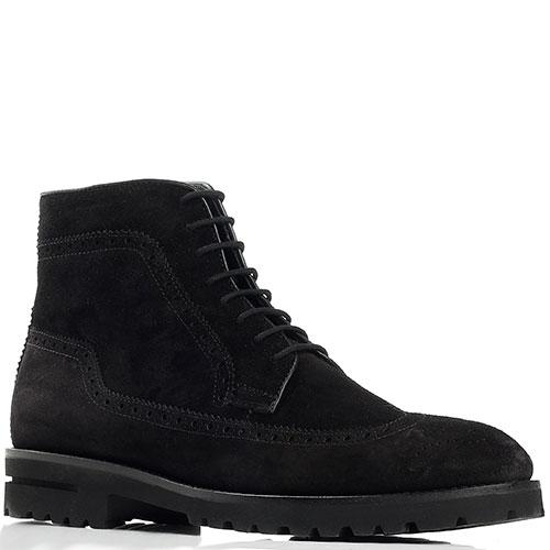 Ботинки-броги Giampiero Nicola черного цвета, фото