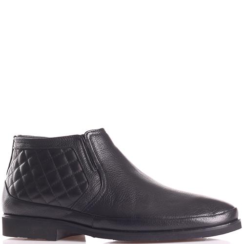 Черные ботинки Luigi Traini из стеганой кожи, фото