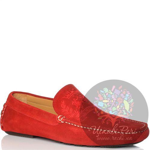 Мокасины La Martina замшевые красные, фото