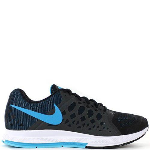 Кроссовки Nike Air Zoom Pegasus мужские черного цвета с серыми вставками по бокам, фото