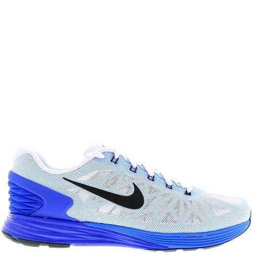 Кроссовки Nike Lunarglide 6 мужские для бега белого цвета, фото