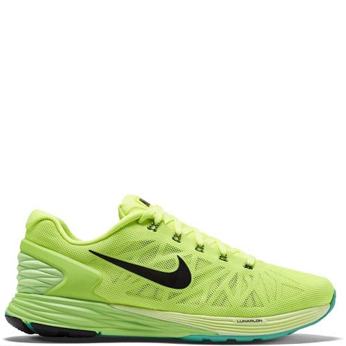 Кроссовки Nike Lunarglide 6 мужские для бега ярко-зеленого цвета, фото