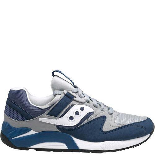 Мужские кроссовки Saucony Grid 9000 темно-синие с серым, фото
