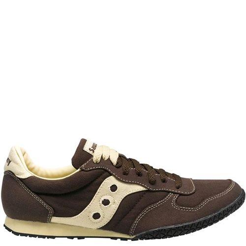 Мужские кроссовки Saucony Bullet Vegan коричневые с кремовыми вставками, фото
