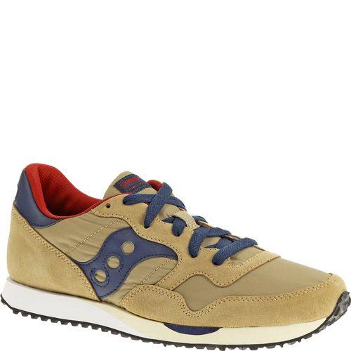 Мужские кроссовки Saucony DXN Trainer бежевые с темно-синим, фото