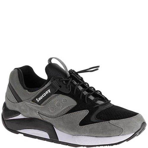 Кроссовки Saucony Grid 9000 Limited Grey Black мужские, фото