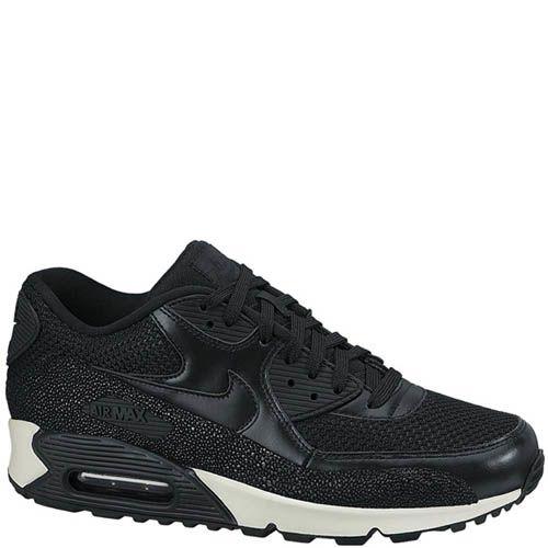 Кроссовки Nike Air Max 90 Leather мужские черного цвета с кожей, фото