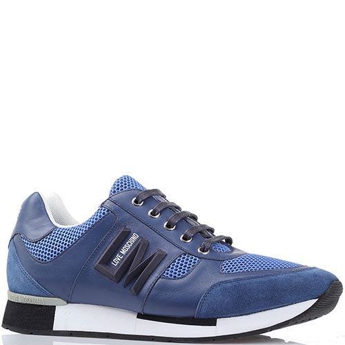 Синие мужские кроссовки Love Moschino, фото