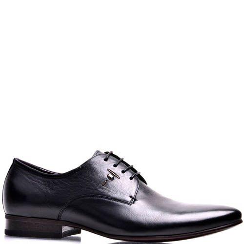 Туфли Prego мужские классические черного цвета с узким носком, фото
