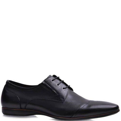 Туфли Prego мужские черного цвета со швом на носке, фото