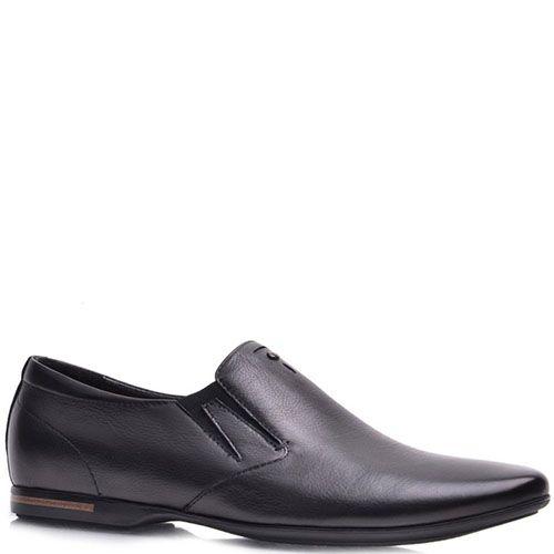 Туфли Prego из кожи черного цвета со вставками-резинками, фото