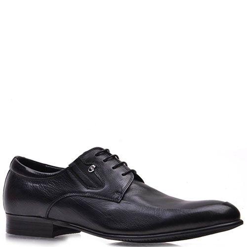 Туфли Prego из натуральной черной кожи на шнуровке, фото