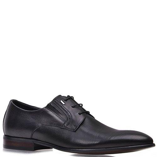 Туфли Prego из натуральной кожи черного цвета, фото