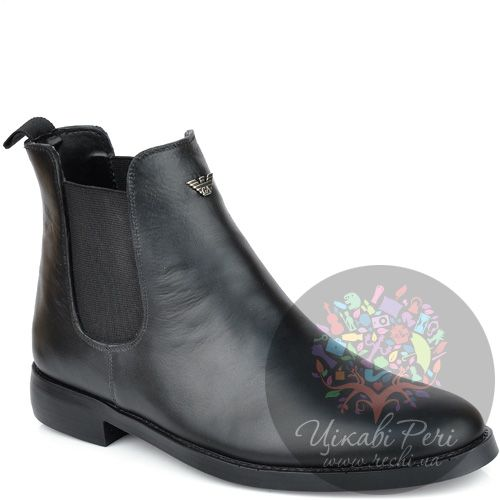 Ботинки Armani Jeans черные осенние, фото