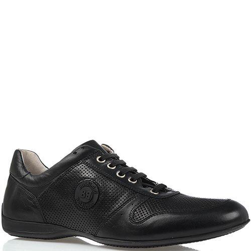 Мужские спортивные туфли Baldinini из кожи черного цвета, фото