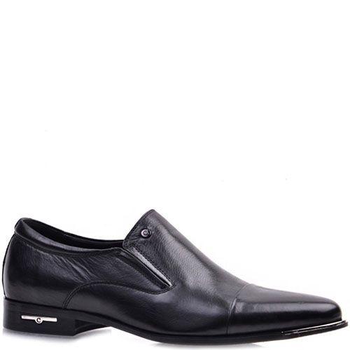 Мужские туфли Prego из кожа черного цвета, фото