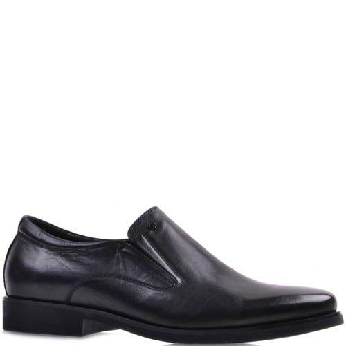 Туфли Prego черного цвета из гладкой натуральной кожи, фото