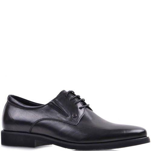 Туфли Prego черного цвета из гладкой кожа на шнуровке, фото