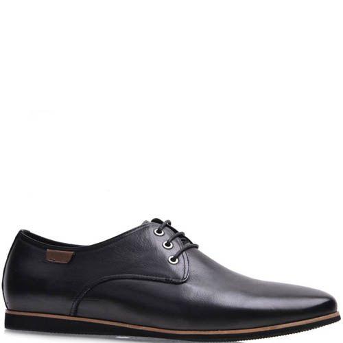 Туфли Grado мужские кожаные со светло-коричневой оконтовкой на подошве, фото