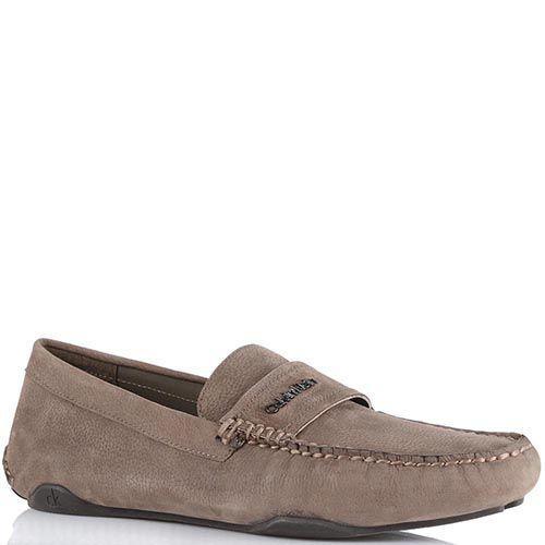 Туфли Calvin Klein из нубука серо-бежевого цвета, фото