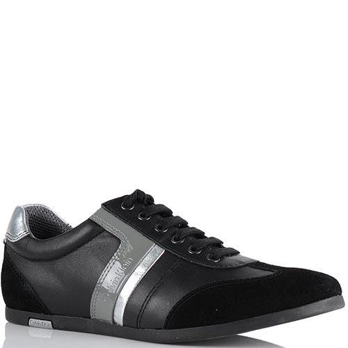 Демисезонные кроссовки Calvin Klein черного цвета с серыми полосками, фото
