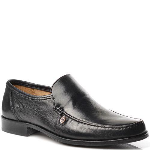 Мужские туфли Fretz Men кожаные черные, фото