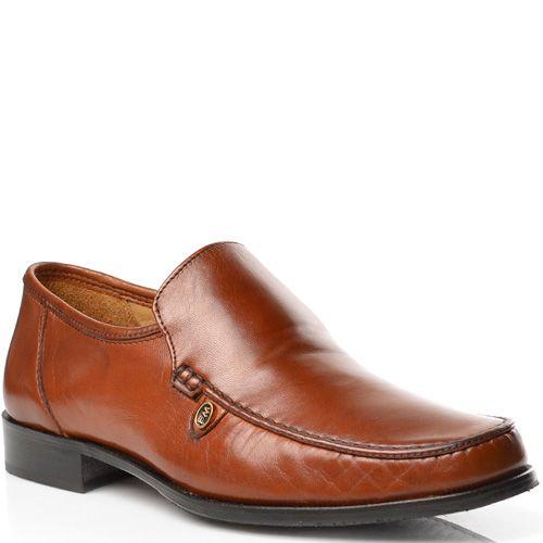 Мужские туфли Fretz Men кожаные рыжевато-коричневые, фото