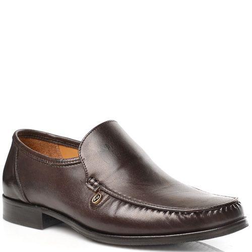 Мужские туфли Fretz Men кожаные темно-коричневые, фото