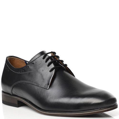 Черные туфли-дерби Fretz Men кожаные классические, фото