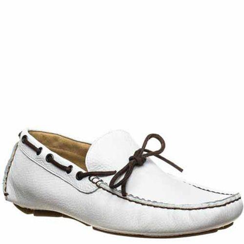 Мокасины Bagatt кожаные белые, фото