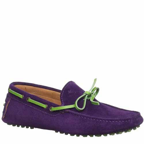 Мокасины Etro замшевые фиолетовые, фото