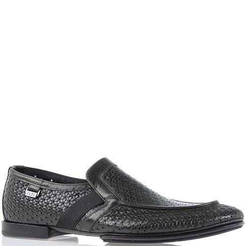 Мужские туфли FABI темно-оливкового цвета с геометрической перфорацией, фото
