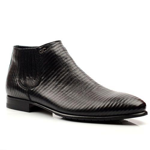Мужские кожаные ботинки Giovanni Ciccioli черные, фото
