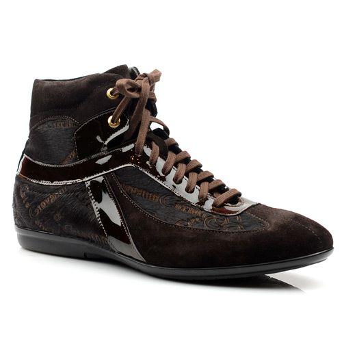 Мужские замшевые ботинки Giovanni Ciccioli с лакированными вставками, фото