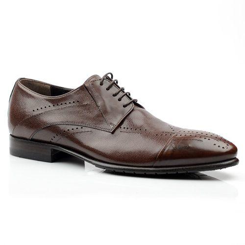 Мужские туфли с перфорацией Giovanni Ciccioli коричневые, фото