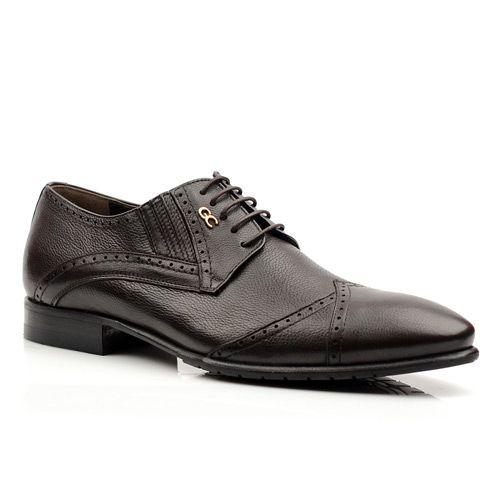 Мужские кожаные туфли Giovanni Ciccioli темно-коричневые, фото