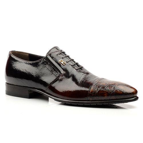 Мужские лакированные туфли Giovanni Ciccioli бордо, фото