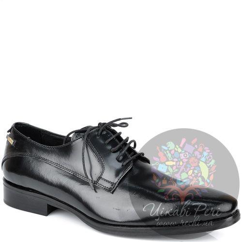 Туфли-дерби GF Ferre классические из полированной черной кожи, фото