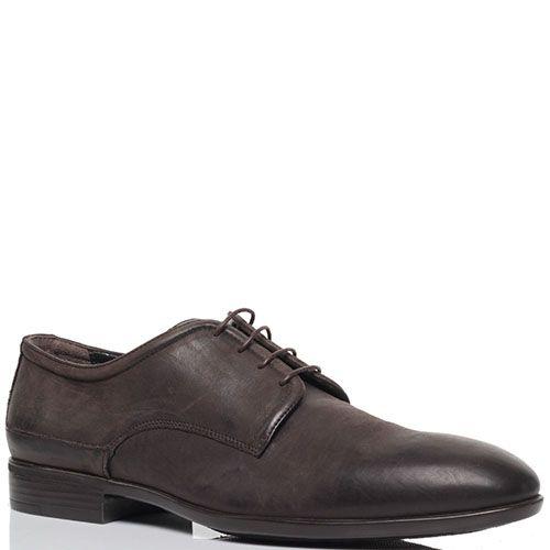 Коричневые туфли из нубука Richmond на шнуровке, фото