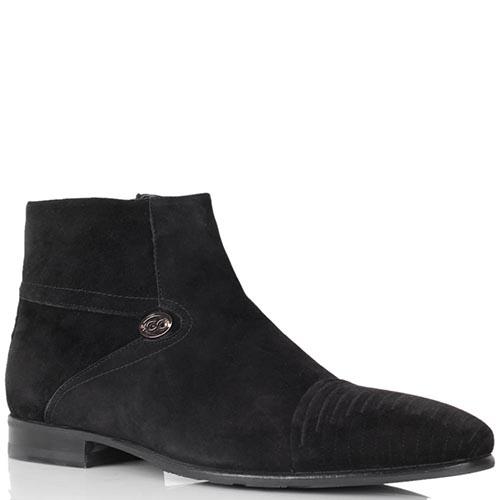 Зимние ботинки Giovanni Ciccioli из натуральной замши черного цвета, фото