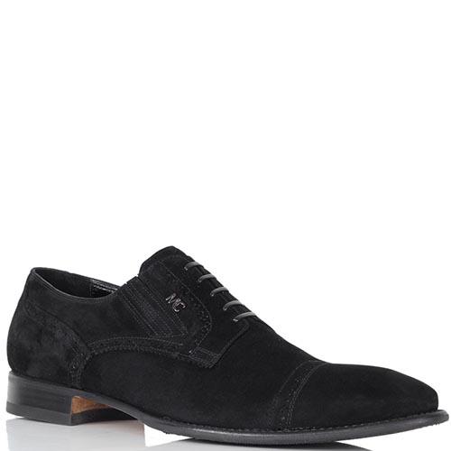 Туфли Mirko Ciccioli из замши черного цвета, фото