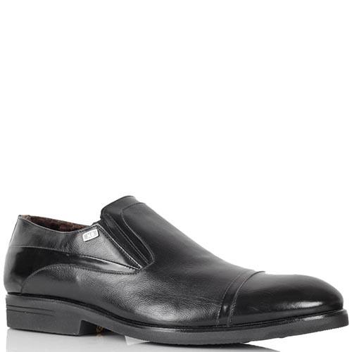 Туфли Mario Bruni из кожи черного цвета со вставками из полированной кожи, фото