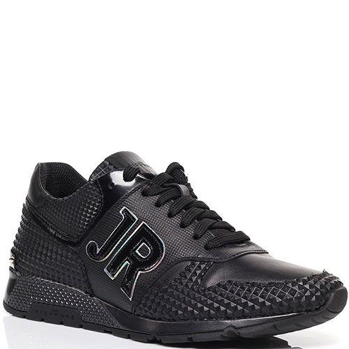 Кожаные кроссовки с резиновыми вставками Richmond черного цвета, фото