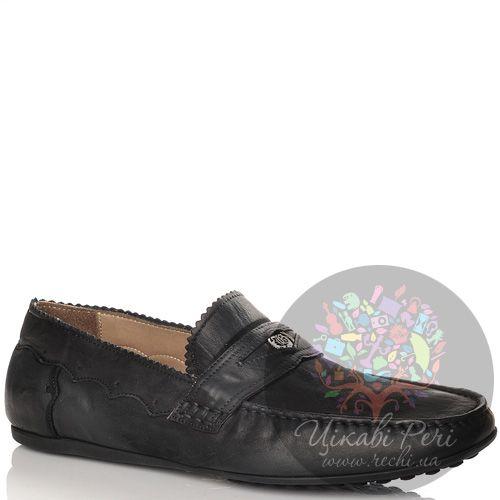 Мокасины John Galliano кожаные черные, фото